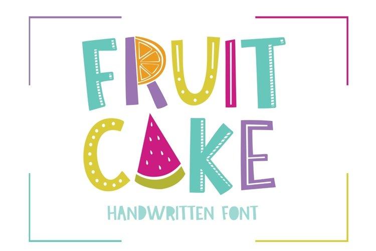Fruit Cake Handwritten Font example image 1