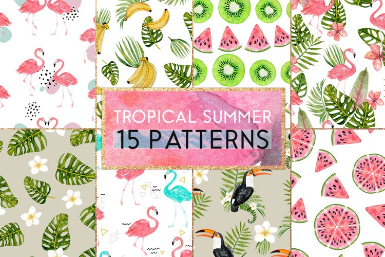 Tropical summer patterns example image 1