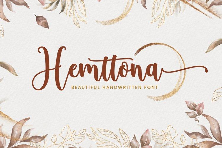 Hemttona Script example image 1
