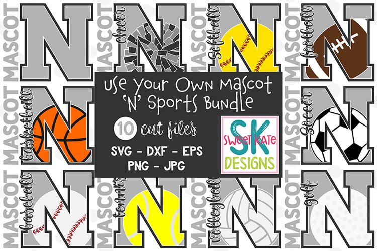 Your Own Mascot N SVG Bundle - 10 - SVG DXF EPS PNG JPG example image 1