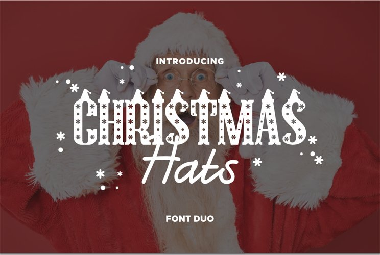 Christmas Hat Font | merry christmas font example image 1