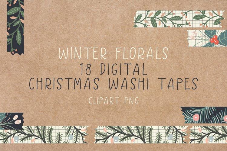 Digital Christmas Washi Tapes - Washi Tape Clipart example image 1