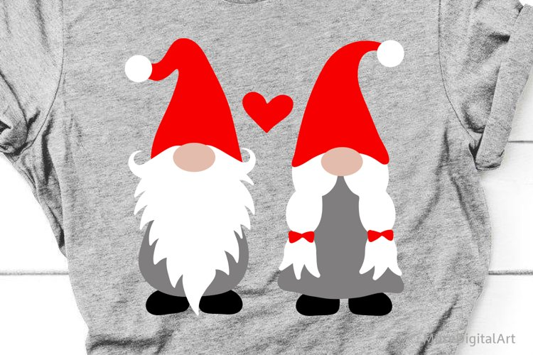 Valentines Day Svg, Boy and Girl Gnomes Svg Files, Love Kids example image 1
