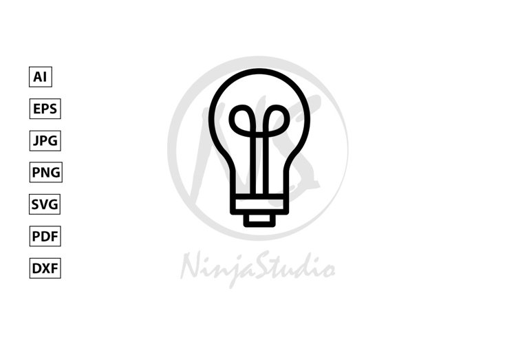 Light Bulb Line Icon In Flat Style Vector example image 1