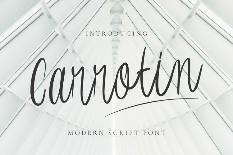 Web Font Carrotin Font example image 1