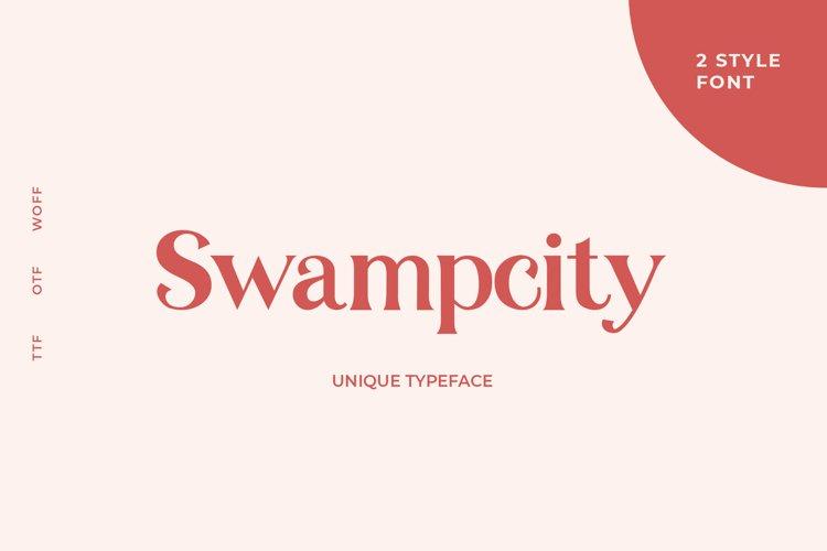 Swampcity typeface example image 1