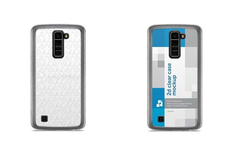 LG K10 2d Clear Mobile Case Design Mockup 2016 example image 1