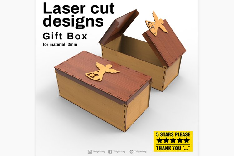 Gift Box - Laser cutting File