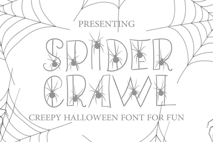 Hand Drawn Spider Font - Spider Crawl for Fun Projects example image 1