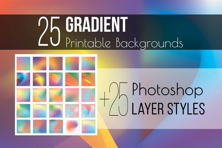 Gradient texture & Photoshop Layer Styles example image 1