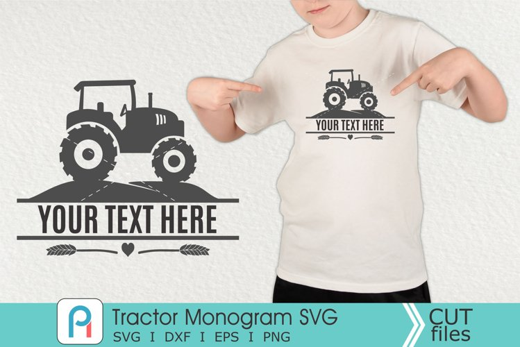 Tractor Monogram Svg, Tractor SVG, Tractor Clipart example image 1