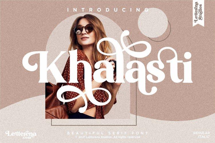 Khalasti - Beautiful Serif Font example image 1