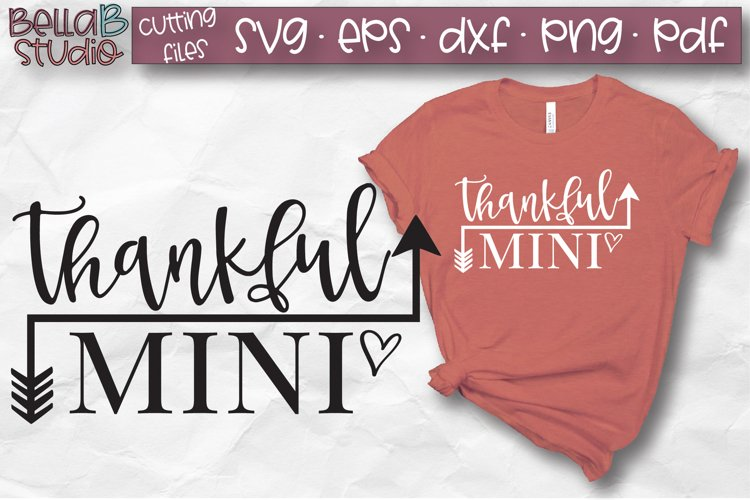 Thankful Mini SVG, Arrows, Fall, Autumn SVG example image 1