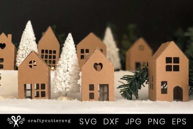 Christmas Village Svg Bundle  DIY Christmas 3D House - Free Design of The Week Design4