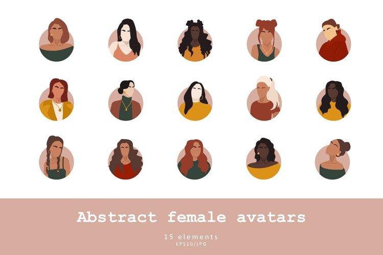 Abstract female avatars example image 1