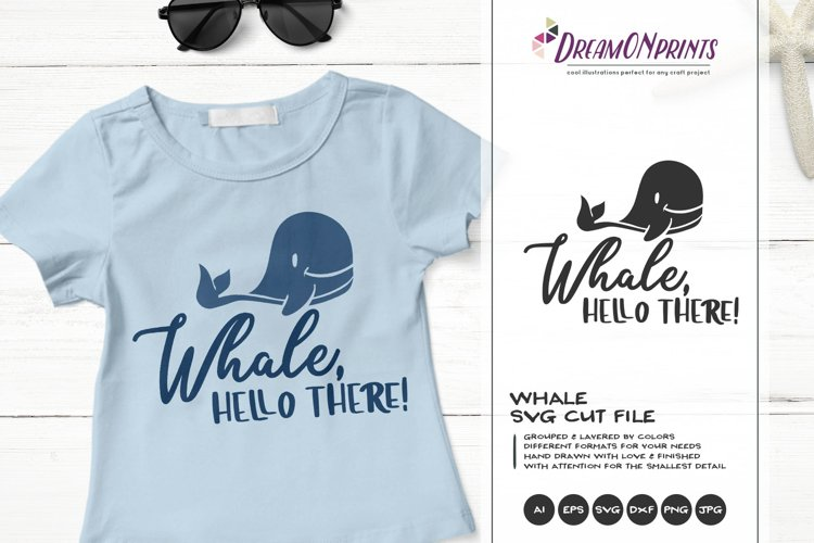 Whale SVG | Hello There example image 1