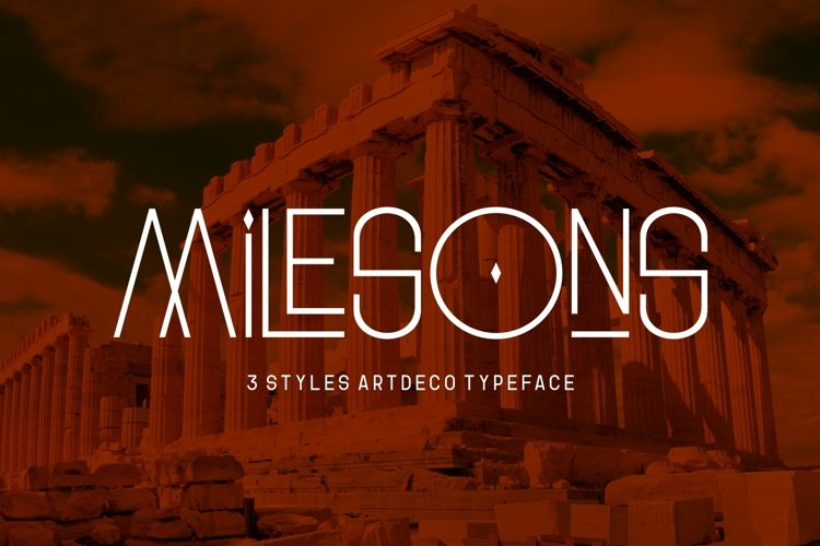 GR Milesons | Artdeco Typeface example image 1