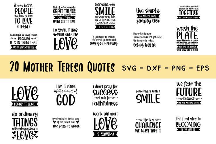Download Mother Teresa Quotes Bundle Svg 685828 Cut Files Design Bundles