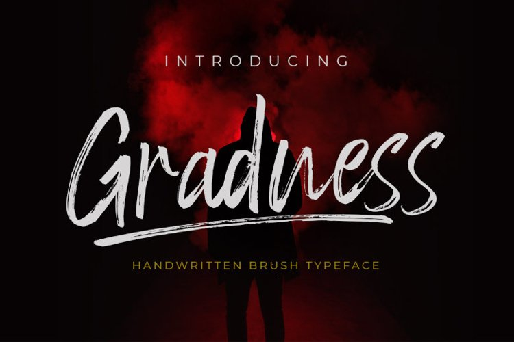 Gradness | A Handwritten Brush Font example image 1