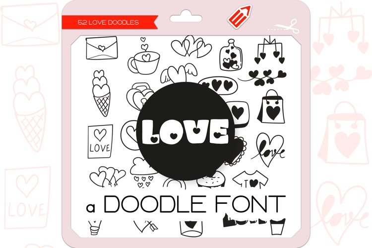 Love Doodles - Dingbats Font example image 1