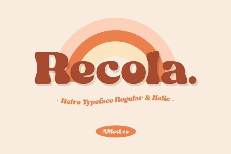 Recola - Retro Font example image 1