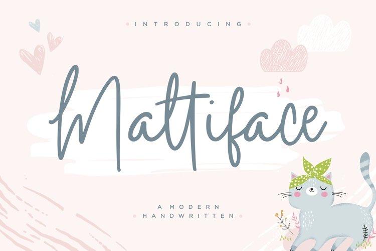 Mattiface Modern Handwritten Font example image 1