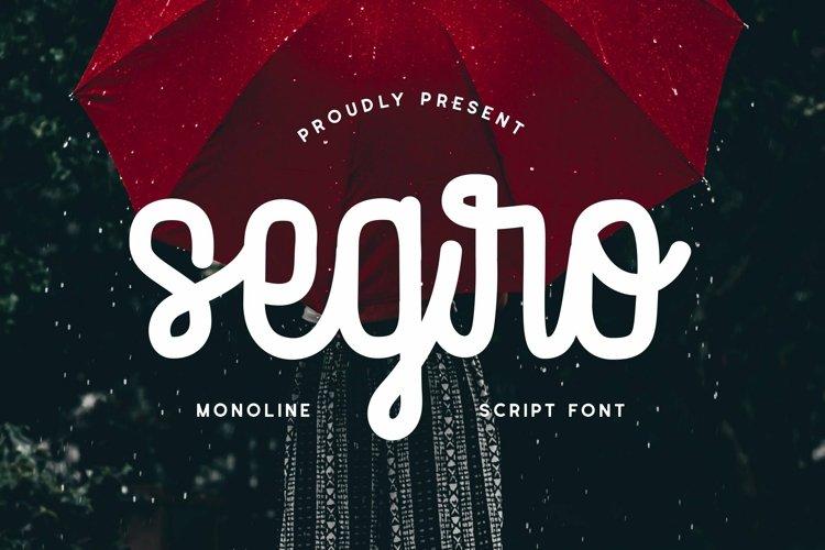 Web Font Segro - Script Font example image 1