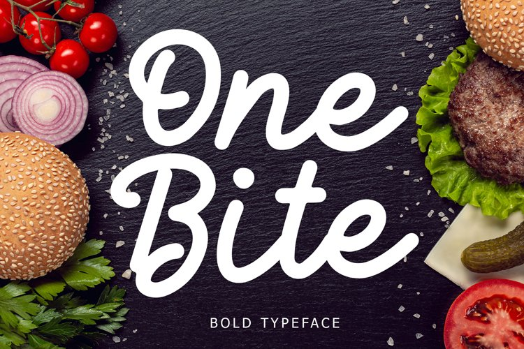 One Bite Bold Calligraphy Font example image 1