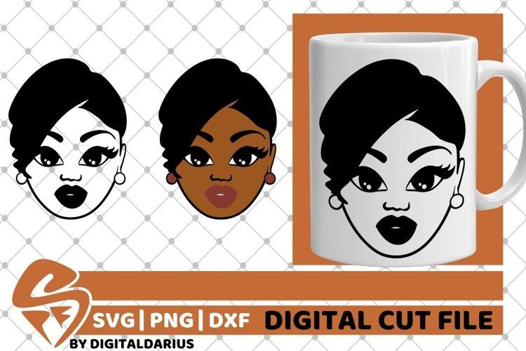 Black Woman svg, Natural Hair, African American, Melanin svg example image 1