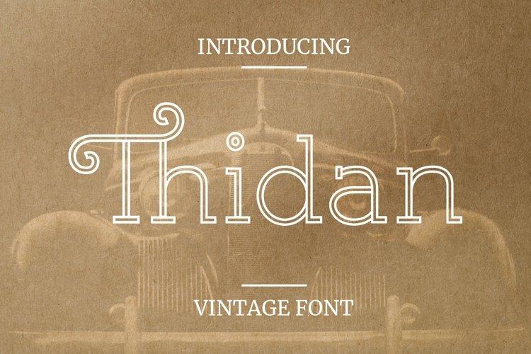 Web Font Thidan Font example image 1