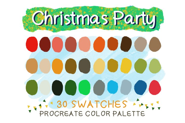Christmas Party Procreate Color Palettes example image 1