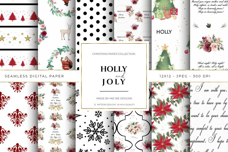 Christmas Digital Paper Background Textures