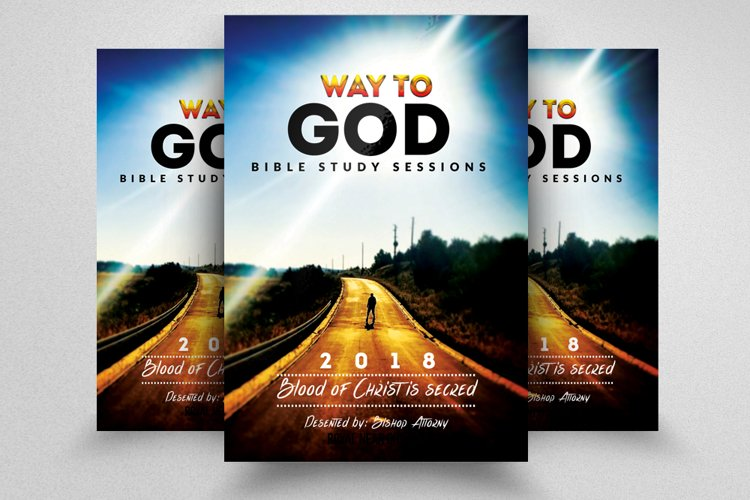 Way to God Church Flyer example image 1