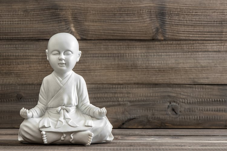Sitting buddha. Relaxing concept example image 1
