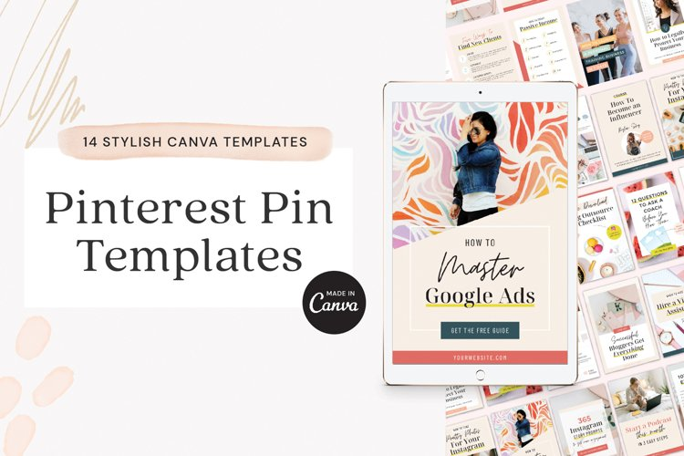 Pinterest Pin Template for Canva example image 1