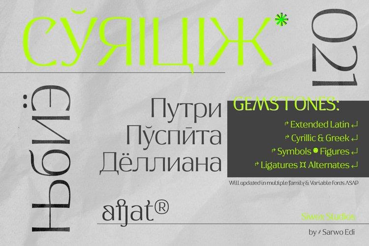 Afjat Trends - Latin, Cyrillic & Greek example image 1