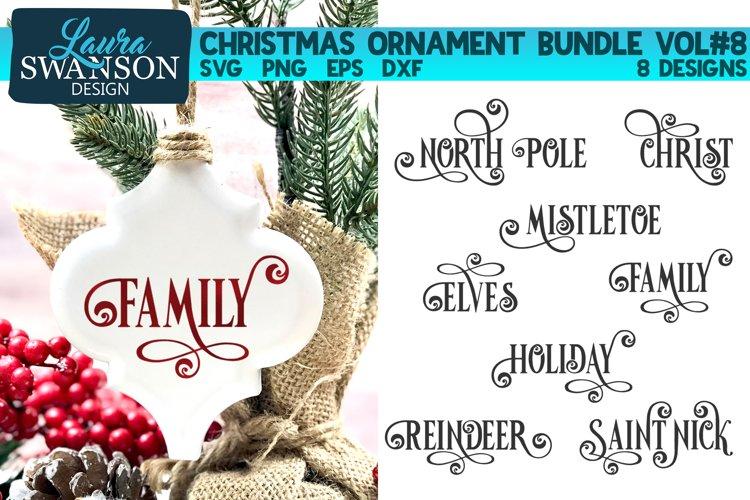 Christmas Ornament Bundle Vol#8   Christmas SVG Bundle example image 1