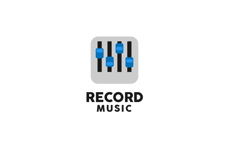 Music Record Logo example image 1