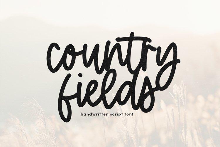 Country Fields - Handwritten Script Font example image 1