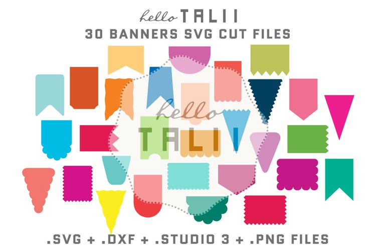 Banners SVG Cutting Files BUNDLE example image 1