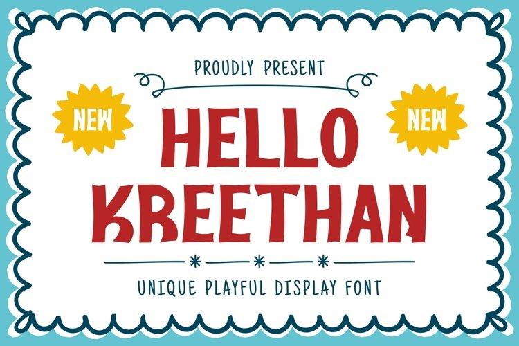 Web Font Kreethan Font example image 1