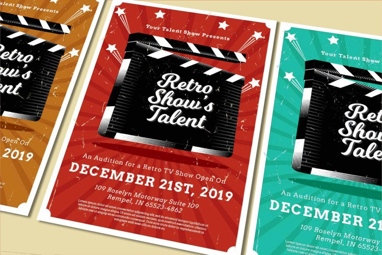show talent Flyer example image 1