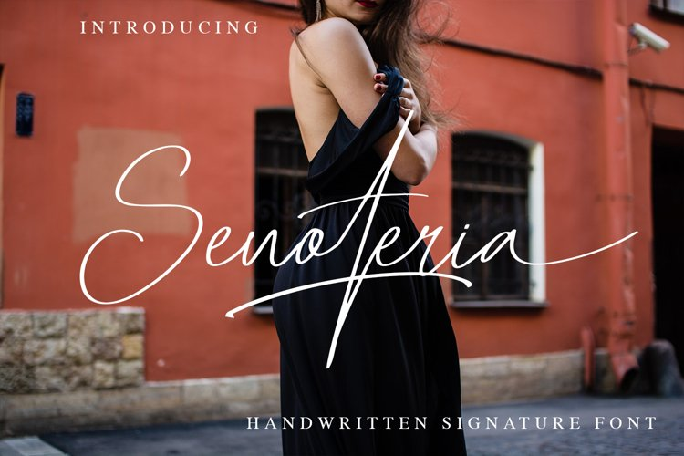 Senoteria Handwritten Signature Font example image 1