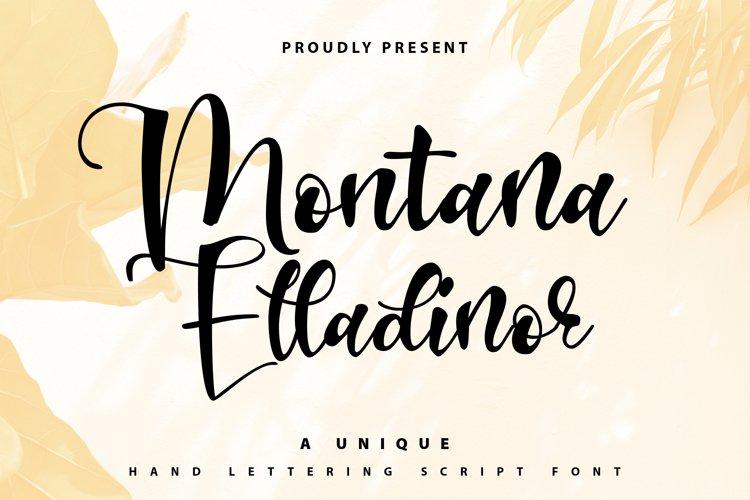 Montana Elladinor   Unique Handlettering Script example image 1