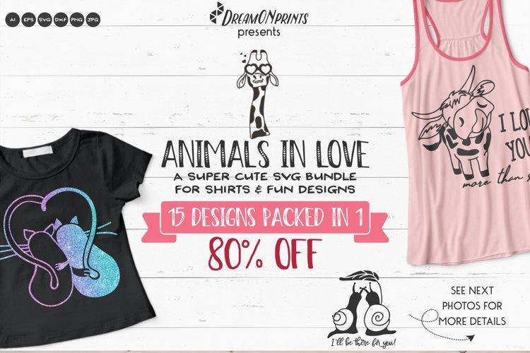 Valentine SVG Bundle | Love Animals SVG Bundle | Funny SVG example image 1