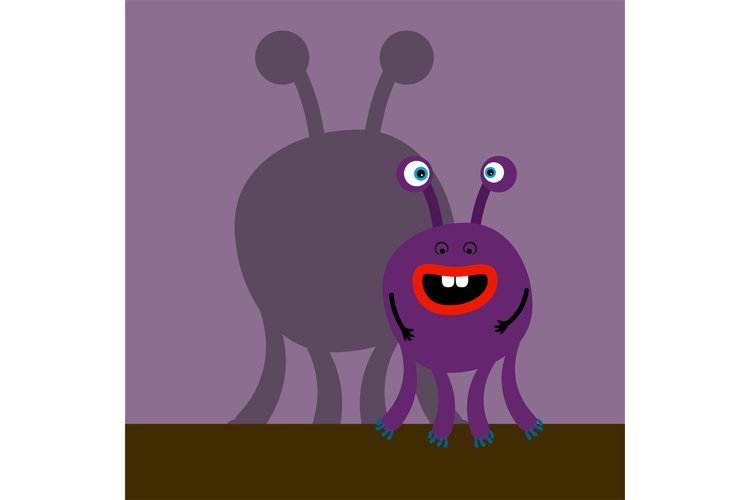 Surprized monster with shadow example image 1