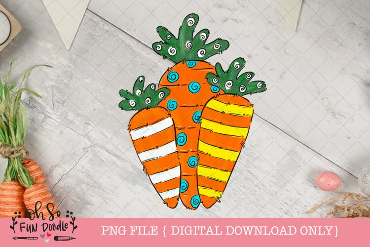Easter carrot, Sublimation design example image 1