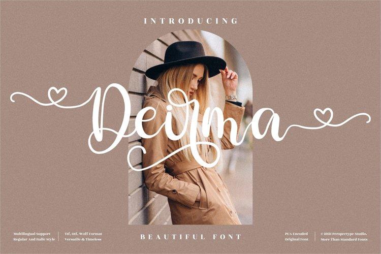 Deirma - Beautiful Script Font example image 1