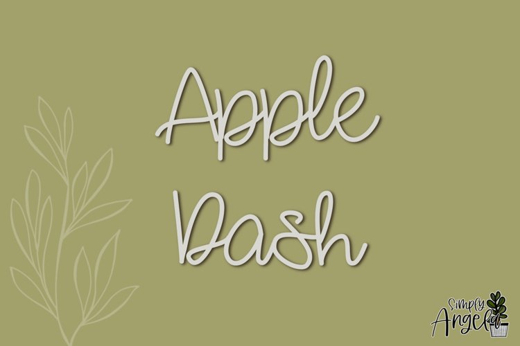 Apple Dash - a smooth handwritten script font example image 1