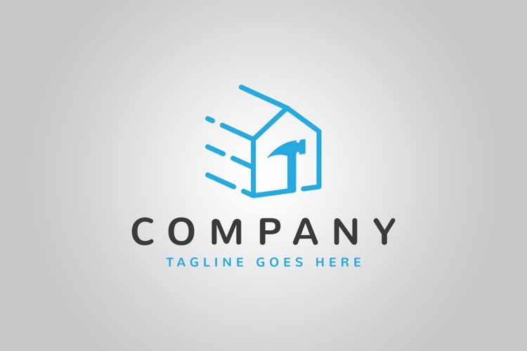 Fast House Repair Logo Template example image 1